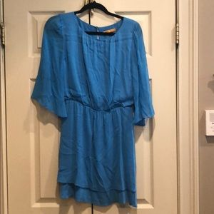 Alice and Olivia Blue Chiffon Dress Small